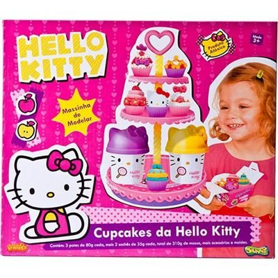 Hello Kitty Cupcakes Massinha - Sunny