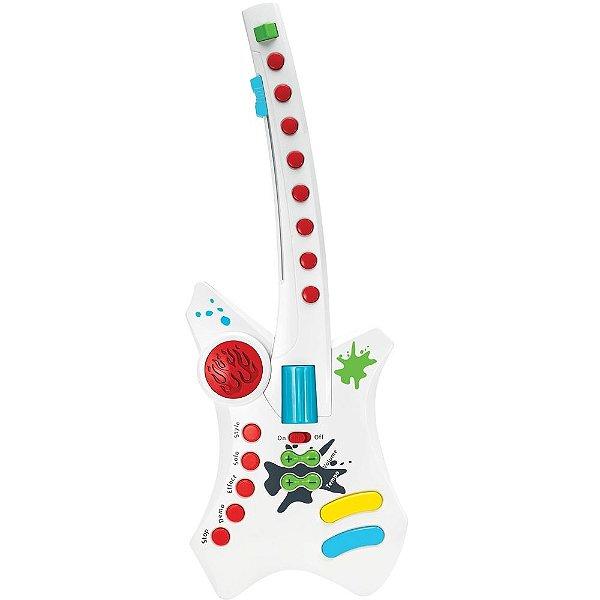Guitarra Elétrica com Luzes Beat Bop Rock - Winfun