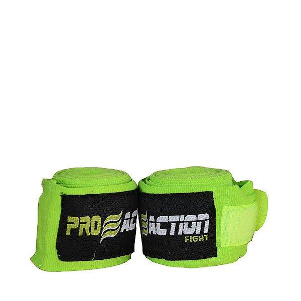 Bandagem Elástica com Poliéster Verde Par 3m F516 - ProAction
