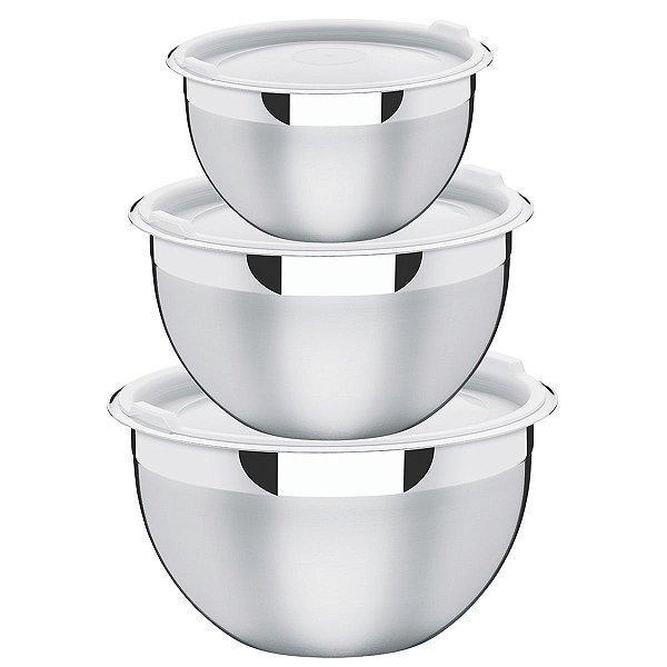 Jogo de Potes Cucina Aço Inox 3 peças - Tramontina
