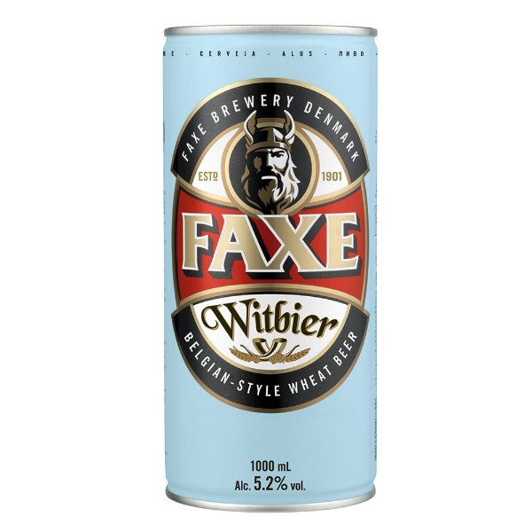Cerveja Faxe Witbier Lata 1000ml