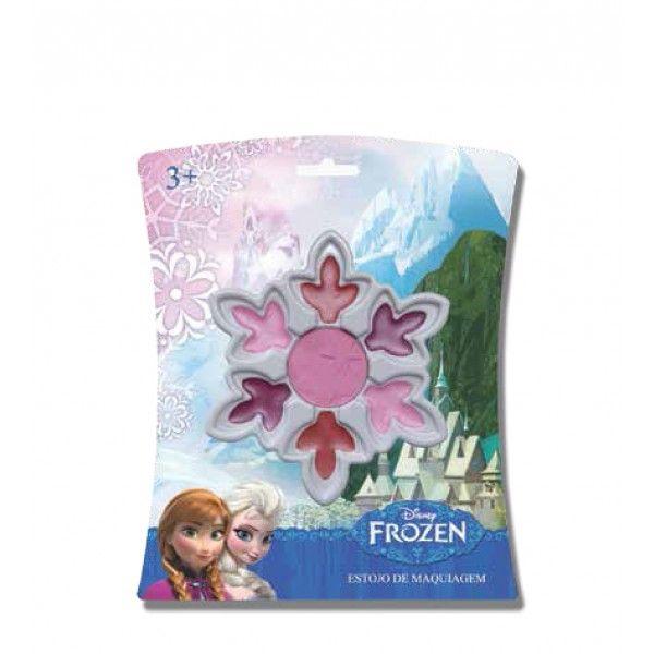 Estojo de Maquiagem Cristal de Neve Frozen - Beauty Brinq