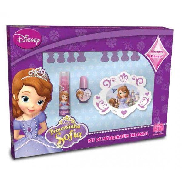 Caixa com Maquiagem Infantil Princesa Sofia - Beauty Brinq
