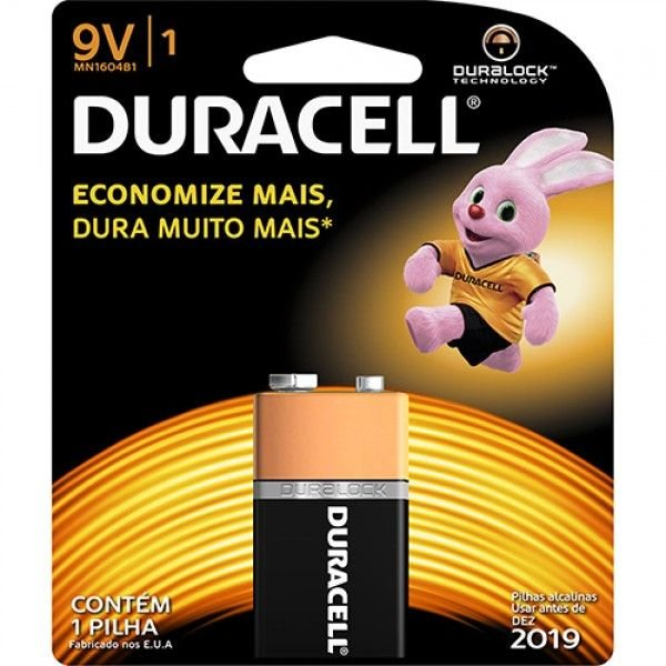 Pilha Alcalina Tamanho 9V - Duracell