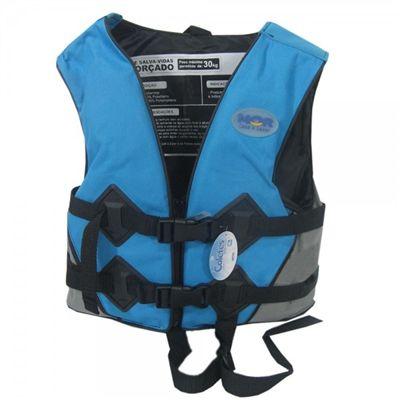 Colete Salva-Vidas 30Kg Azul - Mor