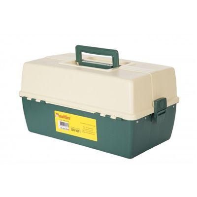Maleta para pesca 6 bandejas Verde e Beje MB 415-6  - Multbox