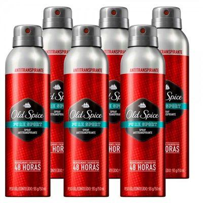 Desodorante Aerosol Antitranspirante Sport 93g - Old Spice 6 unidades