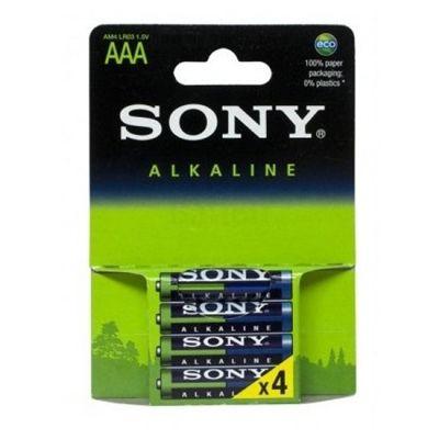 Pilha Alcalina Sony AAA Com 4 Unidades AM4LB4D