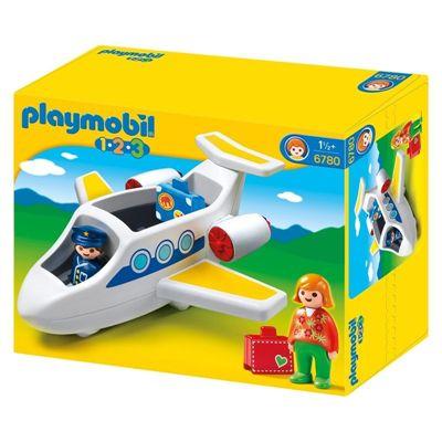Boneco Playmobil 1,2,3 - Jatinho Especial - Sunny