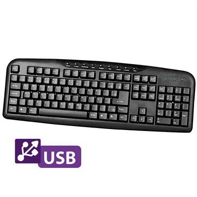 Teclado Multimídia USB Preto 0132 - Bright