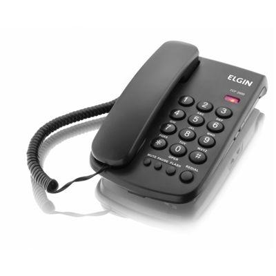 Telefone Elgin Com fio de Mesa c/ Bloqueador TCF-2000 Preto
