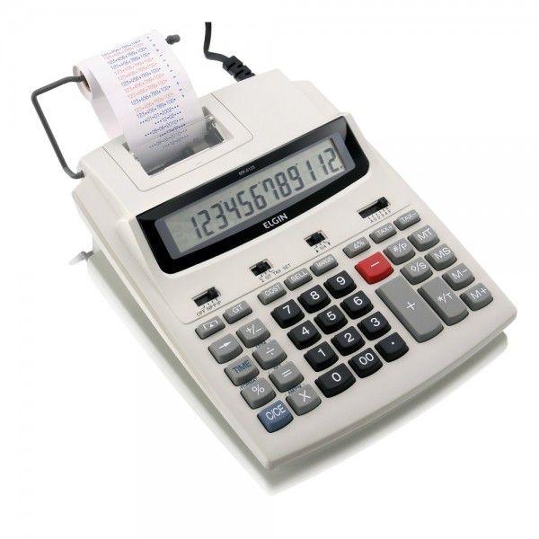 Calculadora de Mesa 12 digitos, Calendário, Relógio e Impressão de Data - MR 6125 - Elgin