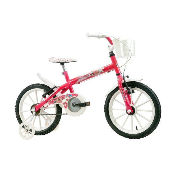 Bicicleta Infantil Aro 16 Pink Monny com Cesta - Track & Bikes