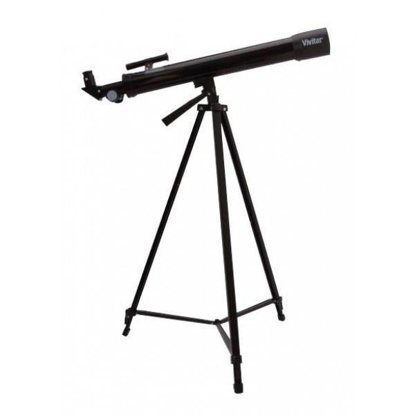 Telescópio com ampliação 75x/150x, ocular, manopla e tripé - VIVTEL150X - Vivitar