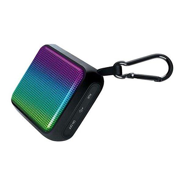Caixa de Som Speaker DuraWaves Glow iSound Bluetooth 4W resistente a água