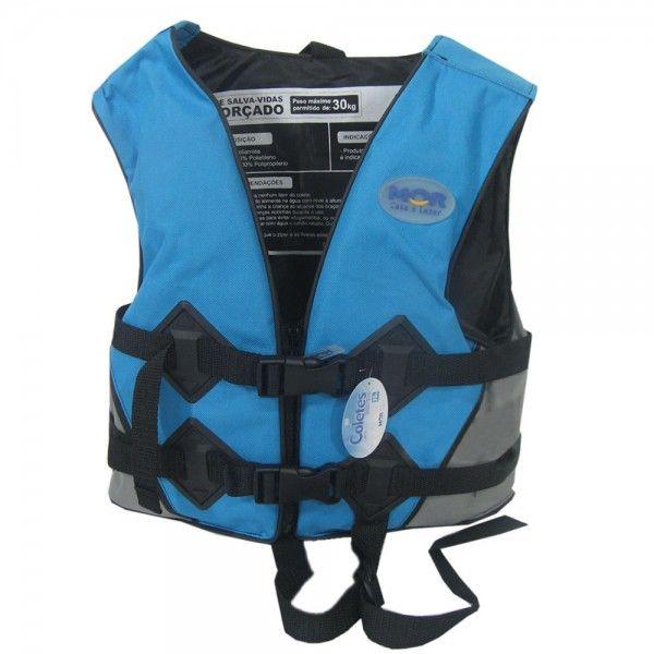 Colete Salva-Vidas 50Kg Azul - Mor