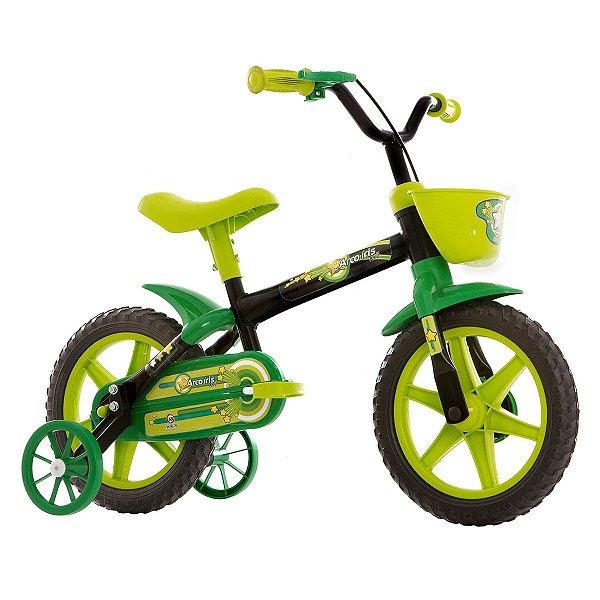 Bicicleta Infantil Aro 12 Track & Bikes Arco Íris - Preto