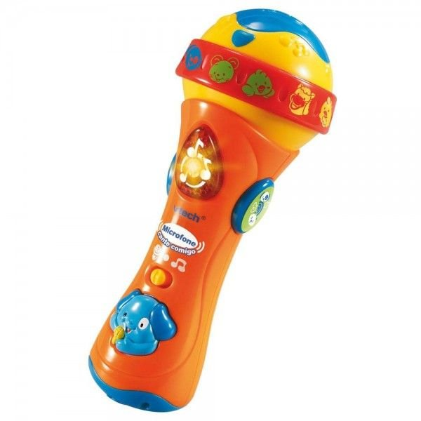 Microfone Cante Comigo com Atividades Colorido - Vtech