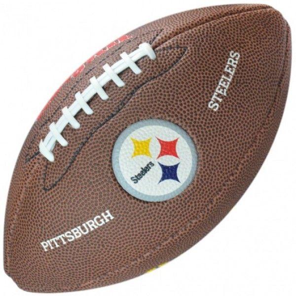 Bola de Futebol Americano Wilson NFL Teams Logo Steelers Pittsburg Jr