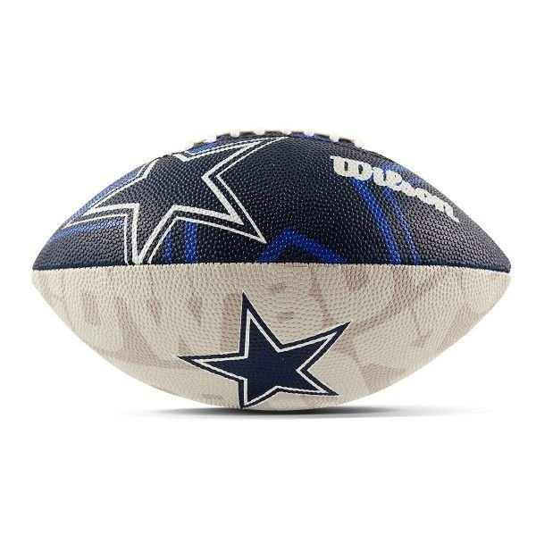 Bola de Futebol Americano Wilson NFL Team Logo Dallas Cowboys Jr