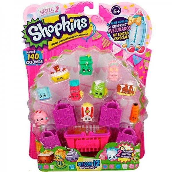 Kit Blister com 12 Shopkins Sortidos Série 4 - DTC