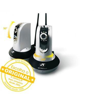 Câmera de segurança sem fio interna c/ antena 5DBI visão noturna, Zoom, Áudio, Rotação Gts Network