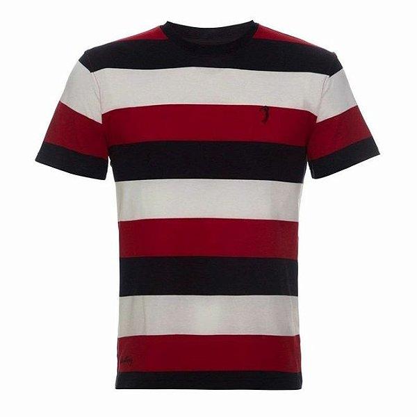 Camiseta Aleatory Listrada Lovable Vermelha