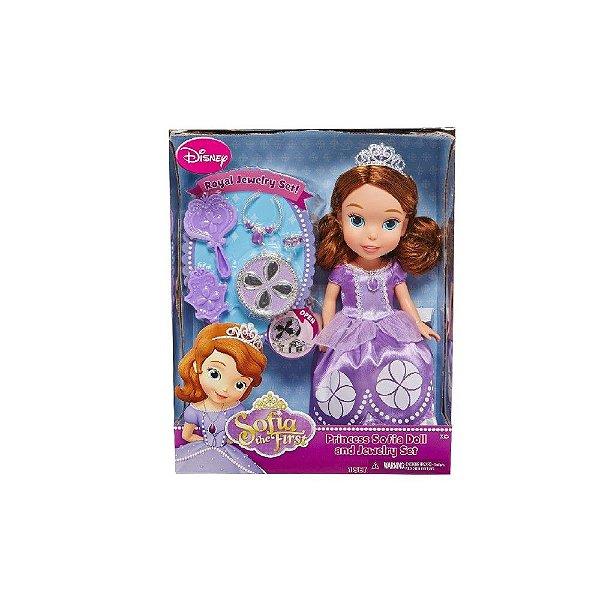 Boneca Princesa Sofia Disney com Acessórios - Minha Primeira Princesa - Sunny