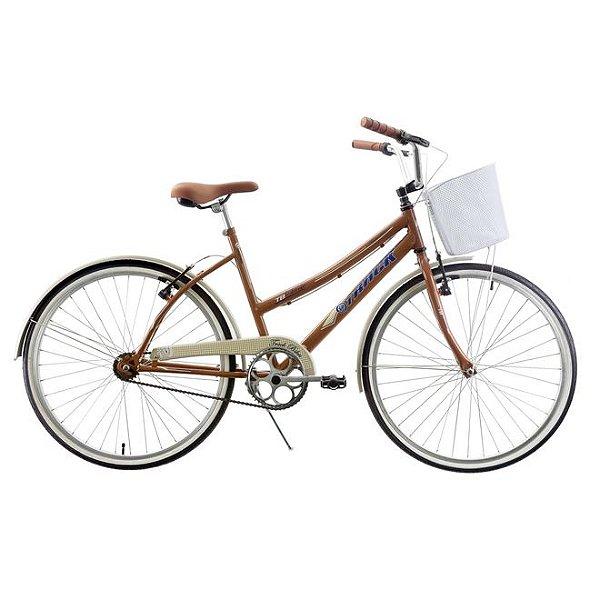 Bicicleta Aro 26 Track & Bikes Confort Classic Plus Marrom