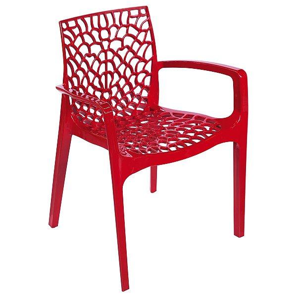 Cadeira Gruvyer com Braço Verde - Or Design