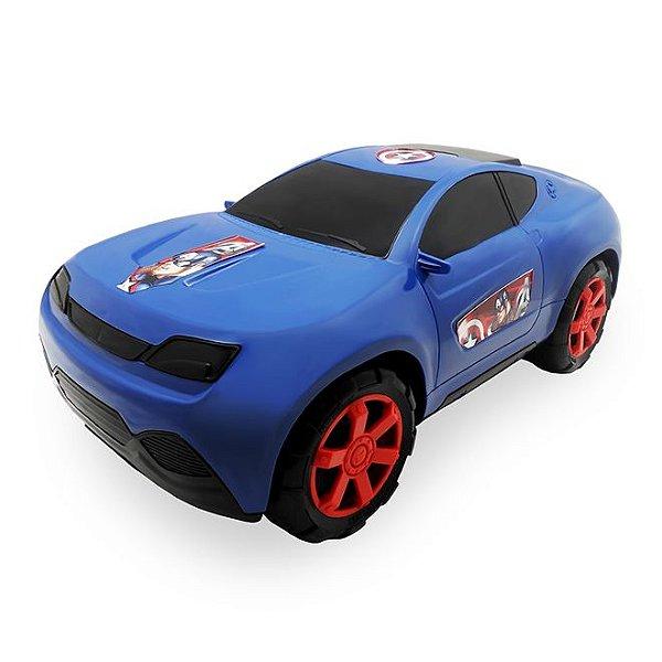 Carro Roda Livre Gigante Vingadores Azul - Toyng