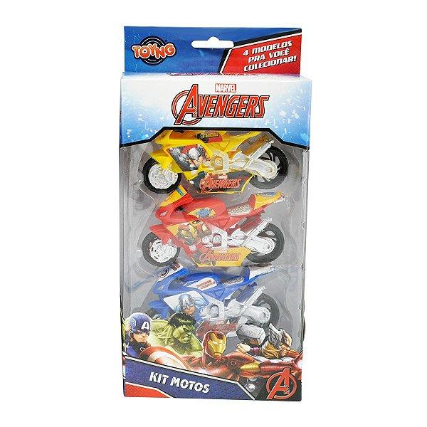 Kit com 3 Motos Vingadores - Toyng