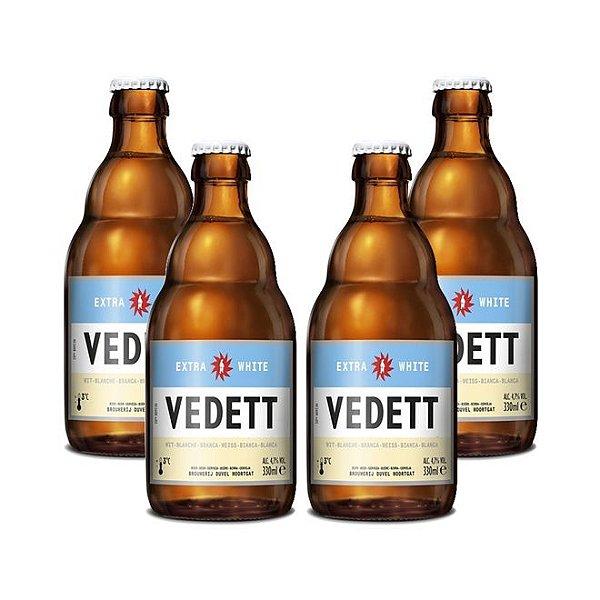 Kit Com 4 Cervejas Vedett Extra White 330ml