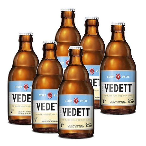 Kit Com 6 Cervejas Vedett Extra White 330ml
