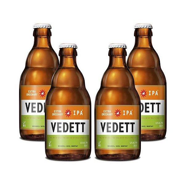 Kit Com 4 Cervejas Vedett IPA 330ml