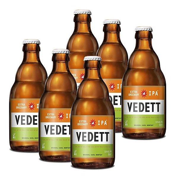 Kit Com 6 Cervejas Vedett IPA 330ml