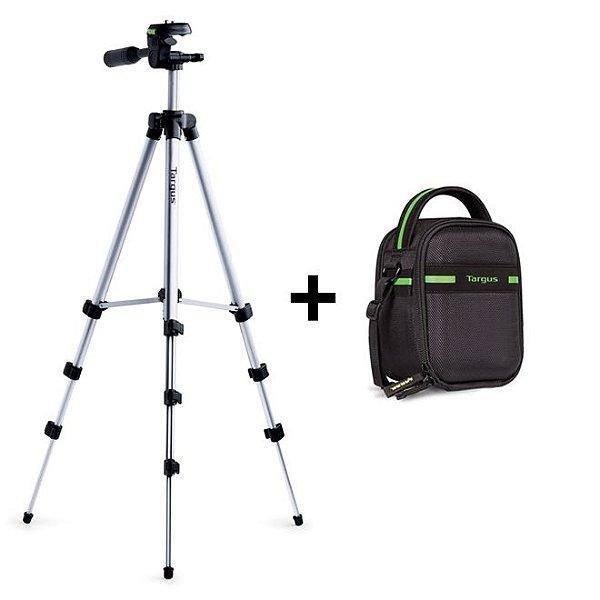 Kit Tripé em Alumínio para Câmeras (altura até 127cm) + Bolsa para Câmera Digital e Acessórios - Targus