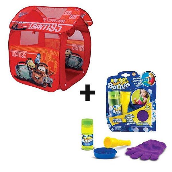 Kit Barraca Portátil Carros GF001B Zippy Toys + Bolhas Boing Roxo - DTC