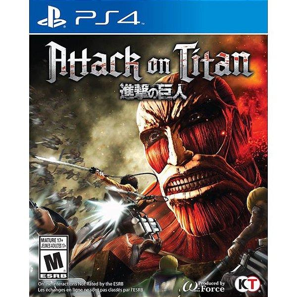 Jogo Attack on Titan para Playstation 4 (PS4) Koei Tecmo