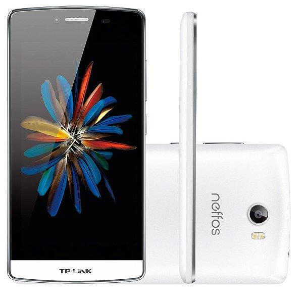 Smartphone TP-LINK Neffos C5, Processador Quad Core, Android 5.1, Tela 5.0´, 16GB, 8MP, 4G, Dual Chip, Desbloqueado - Branco