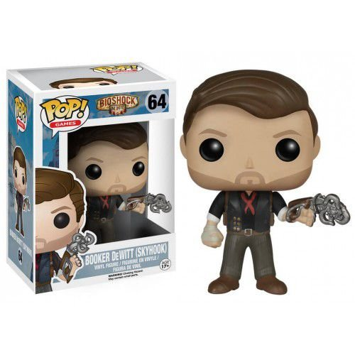 POP! Jogos: Bioshock - Booker DeWitt With Skyhook - Funko