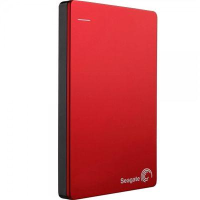 HD Seagate Externo Portátil Backup Plus Slim USB 3.0 2TB Vermelho - STDR2000103