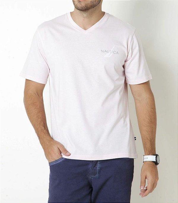 Camiseta Nautica Masculino Summer Rosa