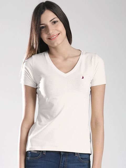 Camiseta feminina Nautica Branca