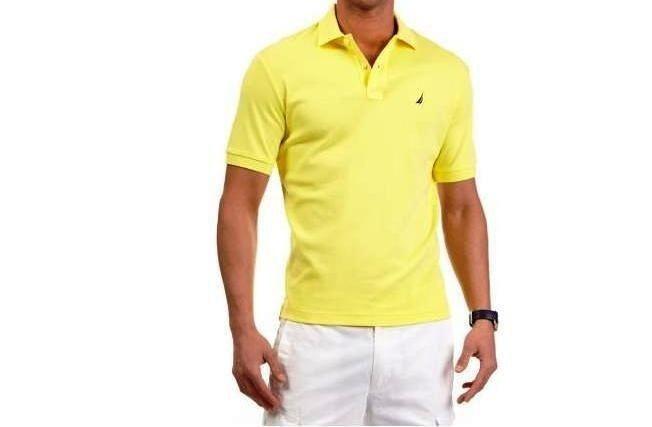 Camisa Polo Nautica Amarela