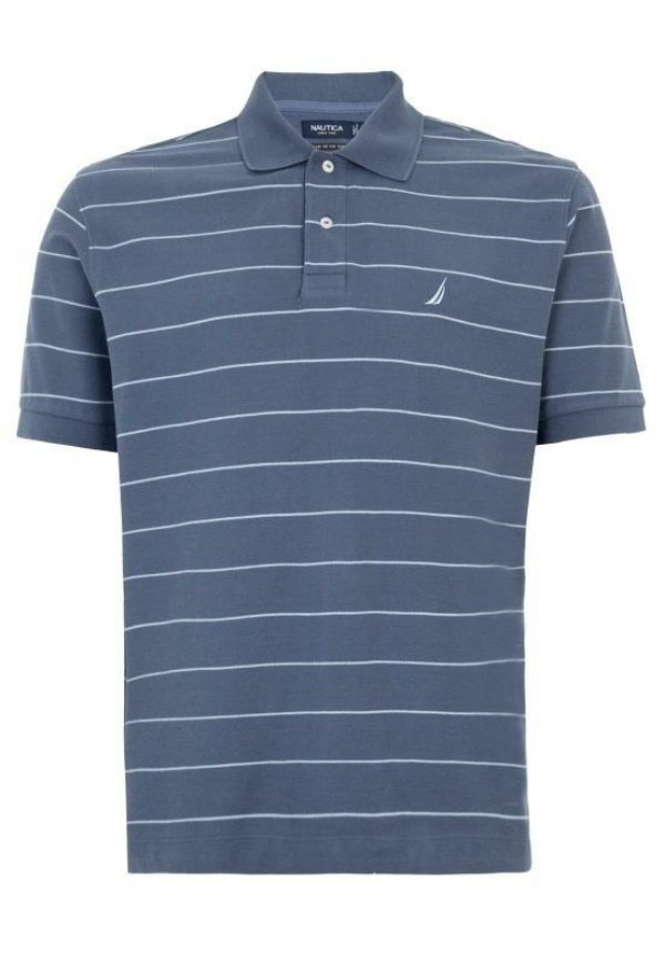 Camisa Polo Nautica Stripe Cinza