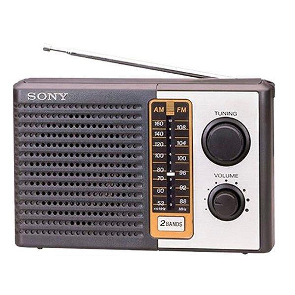 Radio Portatil Sony ICF-F10 AM/FM, 2 Bandas, Entrada Para Fones De Ouvido