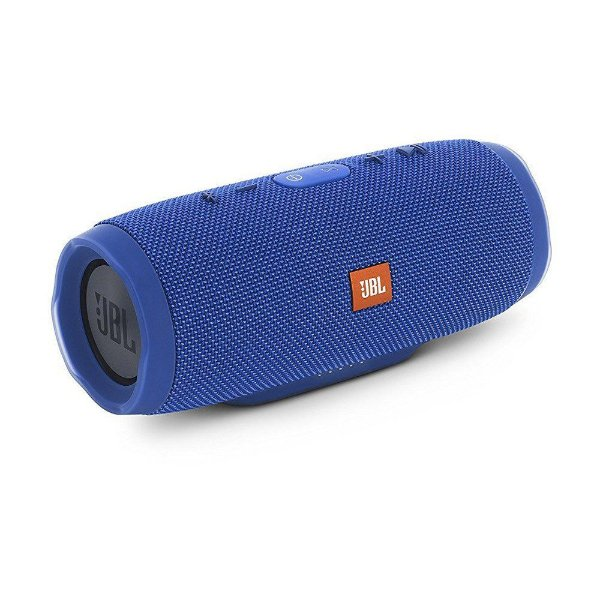 Caixa de Som Portátil Bluetooth JBL Charge 3 Azul À Prova d´agua
