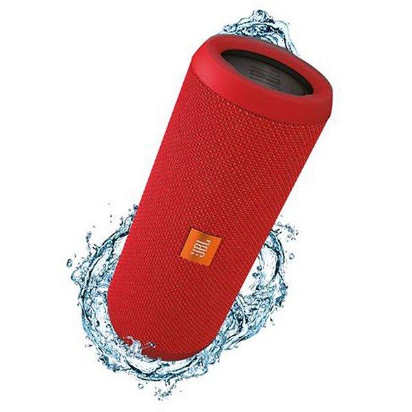 Caixa de Som Portátil Bluetooth Stereo Speaker JBL Flip 3 Vermelha À Prova d'agua