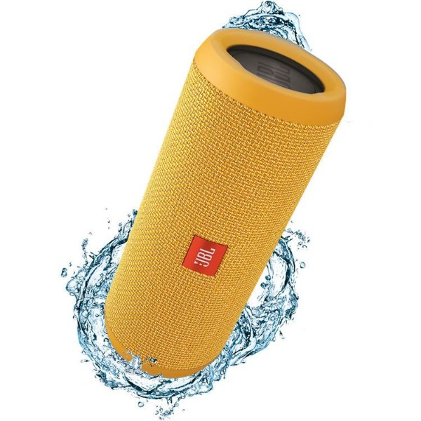 Caixa de Som Portátil Bluetooth Stereo Speaker JBL Flip 3 Amarela À Prova d'agua